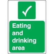 Safe Safety Sign - Eating Drinking 050